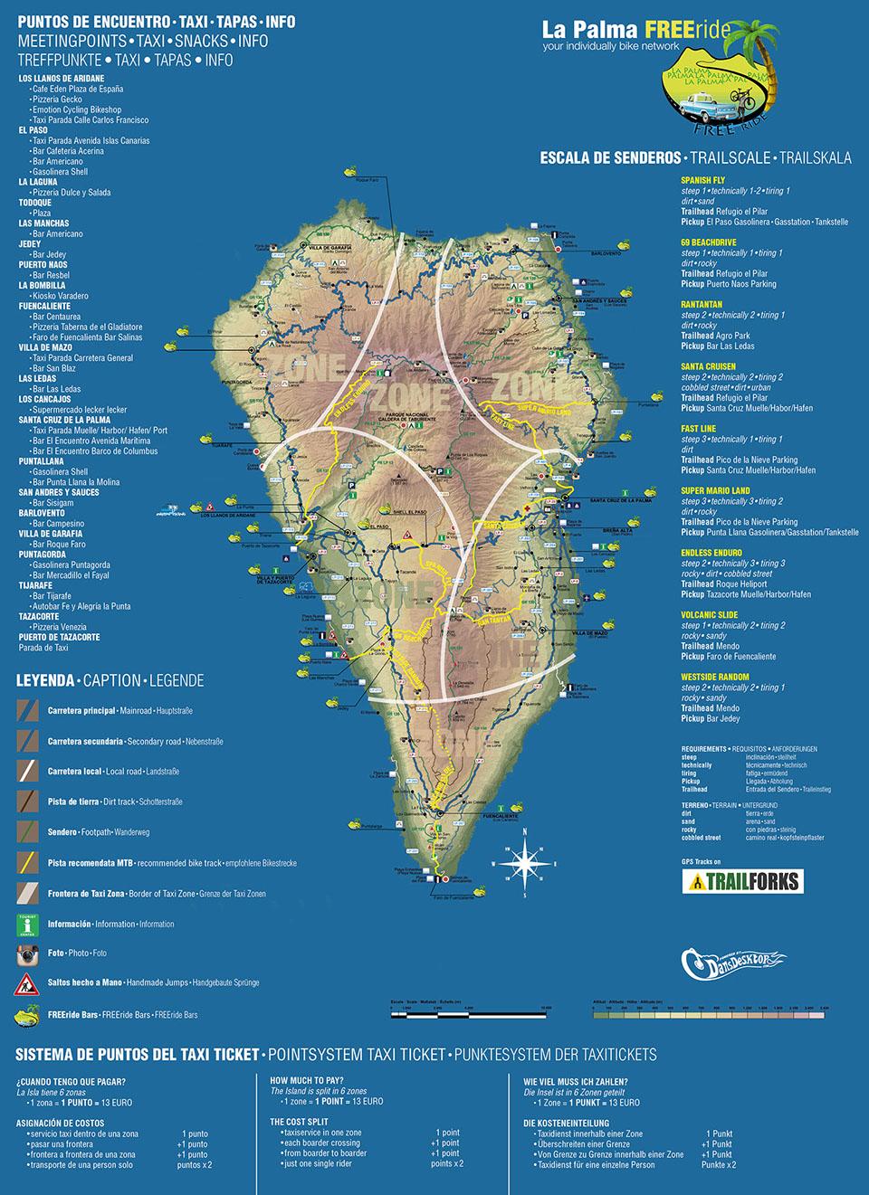 Map - La Palma FREEride